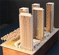 ZGF Model Shop - High rise building model - CA Adhesives - Foam Safe Adhesives - BSI Adhesive