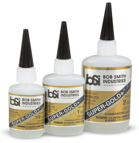 Super-Gold+ - Odorless Cyanoacrylate - Foam Safe CA - Cyanoacrylate - BSI Adhesives